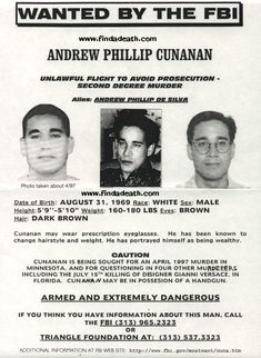 The Death of Gianni Versace and his killer Andrew Cunanan