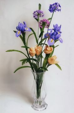 Flowers from beads Kossovo TE