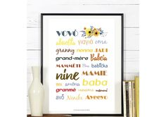 Affiche ' Mamie ' - Fête des Grands-Mères : Affiches, illustrations, posters par affiche-rgb4you #famille #maman #parents #cadeau
