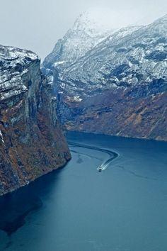 Geirangerfjord, Norway...look at that view