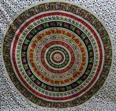 Queen tapestry hippie ANIMAL MANDALA wall hanging indian bedspread throw decor@@ #Unbranded #ArtDecoStyle #BedspreadWallHangingHomeDecorPicnicSheet