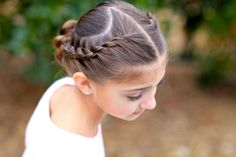Rope Twisted Heart | Valentine's Day Hairstyles | Cute Girls Hairstyles