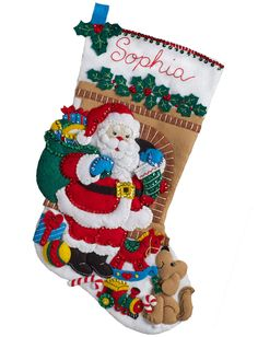 Fall 2016 released Bucilla stocking kit called Santa's Visit. Available at MerryStockings as of September 2016.