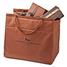 La Maison Du Chocolat, Large Insulated French Tote Bag With Rope Handle, Chocolate Packaging, Best Chocolate, Paris, Small Boxes, France Travel, The Incredibles, French, Tote Bag, Sweet Treats