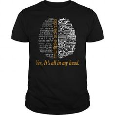I Love Multiple Sclerosis Yes Its All In My Head TShirt Shirts & Tees