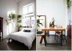 Minimalismo, madera y muchas plantas es lo que nos propone este apartamento
