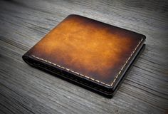 06 Handstitched Leather Wallet. Mens leather wallets. by Odorizzi