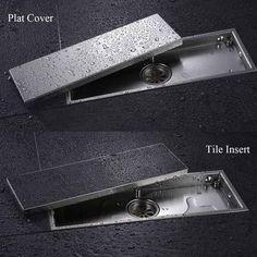 Frete grátis 304 aço inoxidável sólido 300 x 110 mm quadrado anti odor chão ralo do chuveiro dreno de assoalho do banheiro invisível
