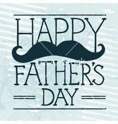 Fathers day mustache vector by mikemcd on VectorStock®
