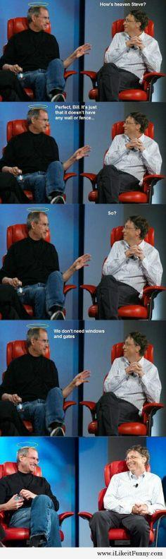 Steve Jobs explains Heaven to Bill Gates…