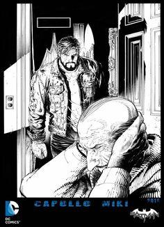 Batman greg capullo pencils danny Miki inks issue 48 Bruce Wayne & Alfred