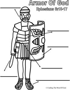 The Armor Of God Puzzle Sheet