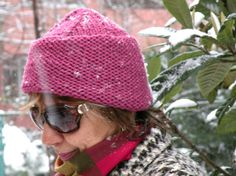 Hand Knit Cozy Knitted Fuchsia Cap by ArzuMusaKnitting on Etsy, $25.00