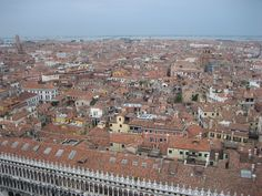 Red tile roof tops in Venice