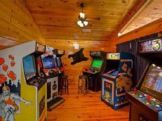 MOUNTAIN LAKE LODGE FUN CABIN/ARCADE ROOM / GAME ROOM / HOME THEAVacation Rental in Sevierville from @homeaway! #vacation #rental #travel #homeaway