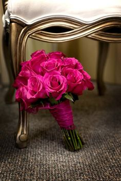 pink wedding bouquet for me, no red and no fillers. Plus a lot of sparkle!!!