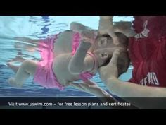 uSwim, Level 1, skill 3 - Back Floating how to teach your baby to swim, swimming lessons