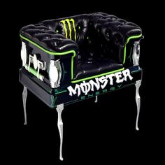 Monster Energy Drink Chair, from coffincouches.com