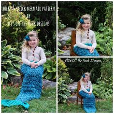 http://www.ravelry.com/designers/mjs-off-the-hook-designs   Bulky and Quick Mermaid pattern by MJ's Off The Hook Designs