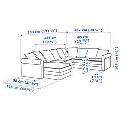GRÖNLID with chaise longue/Tallmyra light green, Corner sofa, - IKEA Modulo 2, Deep Seat Cushions, Ikea Family, Large Sofa, Polyurethane Foam, Angles, Recycled Fabric, Home, Sectional Sofas