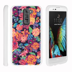 K7 | Tribute 5 Case SNAP SHELL White 3 IN 1- Slim Hard Fitted Case - Floral Dream