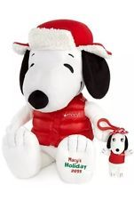 Macy's Holiday 2015 Peanuts Snoopy plush doll w/sister Belle (NEW)