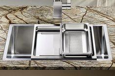 Fregaderos con accesorios cada vez más funcionales - Cocinas con estilo