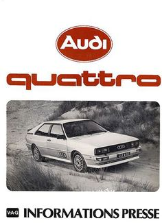 Audi Quattro, '80 French launch press pack
