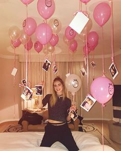 birthday decorations Facts about me: I love surprises Birthday Room Surprise, Best Friend Birthday Surprise, 17th Birthday Gifts, Birthday Goals, Happy 21st Birthday, 18th Birthday Party, Birthday Ideas, Tumblr Birthday, Birthday Post Instagram