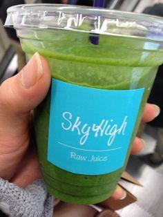 伊勢丹にあるSky Highのグリーンスムージーが美味しくて最近、ハマってるー(´∀`)