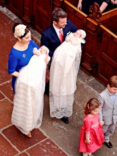 """"""" Prince Vincent & Princess Josephine's christening """" Baptism Outfit, Baptism Dress, Christening Gowns, Denmark Royal Family, Danish Royal Family, Princesa Mary, Danish Royalty, First Communion Dresses, Crown Princess Mary"""