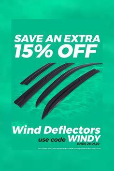 ⛈️Wind Deflectors #SALE  Limited offer - Ends 26.01.20  #car #autos #Automotive #cartips #autoparts #deals #HotDeals #discounts #rt #offers #VoucherCodes