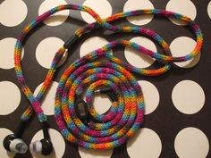 Knit ear bud cover by Beeclef. This doesn't just look awesome - it keeps the wires from getting tangled up!