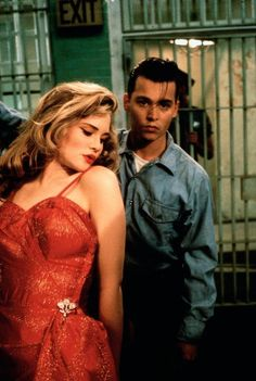 Johnny Depp, Amy Locane, Cry-Baby  (1990) Watched this movie yeaterday! I will always love this movie! Oh that Johnny! <3