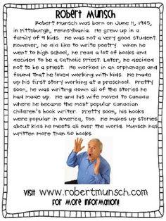 ROBERT MUNSCH AUTHOR STUDY SUPER PACK - TeachersPayTeachers.com