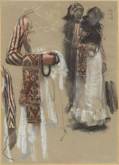 Francesco Paolo Michetti, Southern Italian Woman Dressed for Church, c. pastel, black and white chalks on faded blue-gray paper, Florian Carr Fund and The Ahmanson Foundation Source by brennafahrenholtz church women dress Italian Women, Italian Art, Vintage Wall Art, Vintage Walls, Women's Dresses, Costume Design Sketch, Drawing Now, National Gallery Of Art, Art Graphique