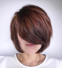 Textured Bob with Long Bangs