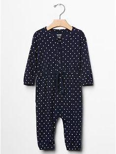 Dot tie-waist one-piece | Gap