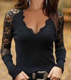 Sexy Blouse, Black Blouse, Womens Fashion Online, Latest Fashion For Women, Blouse Patterns, Look Fashion, Sexy Outfits, Blouses For Women, Long Sleeve Tops