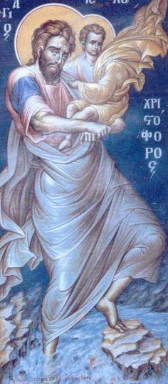 SAN CRISTÓBAL Y EL NIÑO JESÚS
