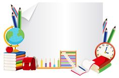 Banner de papel com elemento de aprendizagem Classroom Background, Kids Background, Poster Background Design, Powerpoint Background Design, Boarder Designs, Frame Border Design, Water Live Wallpaper, Welcome To School, School Forms