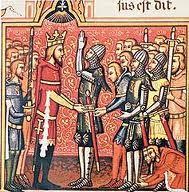 El término «feudalismo» también se utiliza historiográficamente para denominar las formaciones sociales históricas caracterizadas por el modo de producción que el materialismo histórico (la historiografía marxista) denomina feudal.2