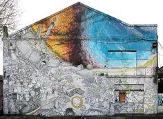 Bologna - La street art di Blu contro il grigiore della metropoli - dailySTORM