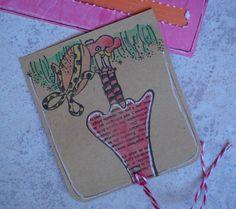 Une carte glissée dans la pochette de Cathy M.  http://cathym.fr/