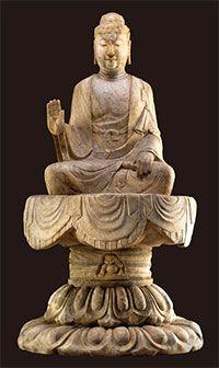佛教藝術 -「佛坐像」北齊天保二年(551) 漢白玉H227×W120cm  中台世界博物館的館藏石雕大像