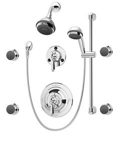 Symmons® 1-7470-X Water Dance™ High-Flo™ Pressure-Balancing Shower System with 4 Body Sprays and Hand Shower