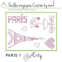 Feuille magique Paris 1 Custom by me ! - Dmc - Sperenza Atelier Créatif, boutique de laines et articles de mercerie