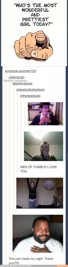 Tumblr menfolk, I salute you.
