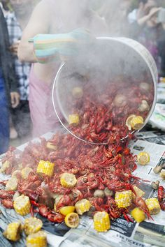 Boiled Crawfish/ clam bake for my bridal shower? I'm thinking this would be a ton of fun... Sounds like a great plan :)
