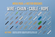 Wire/Chain/Cable/Rope Brushes by Industrial Artworks on @creativemarket